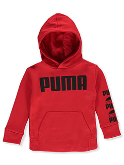 Boys' Logo Sleeve Hoodie by Puma in Red