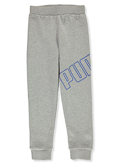 Boys' Wraparound Logo Joggers by Puma in Charcoal gray