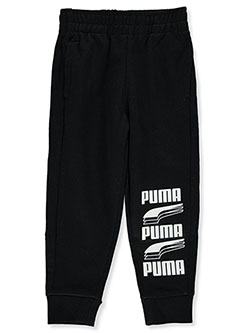 Boys' Stacked Logo Joggers by Puma in Puma black