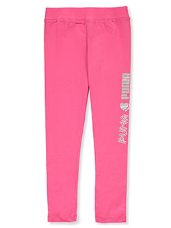 Girls' Digi Logo Leggings by Puma in Pink