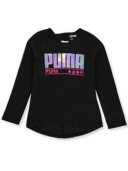 Girls' Digi Icon L/S Top by Puma in Black