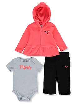Baby Girls' Marker Logo 3-Piece Layette Set by Puma in Pink/multi