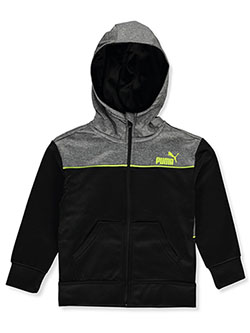 Boys' Tricot Zip Hoodie by Puma in Puma black