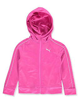 Girls' Heart Tricot Zip Hoodie by Puma in Pink