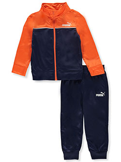 Boys' Chest Piping 2-Piece Tracksuit by Puma in Orange