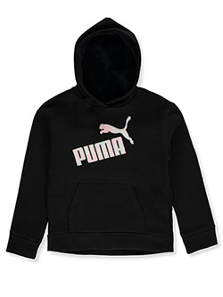 Girls' Logo Pullover Hoodie by Puma in Black