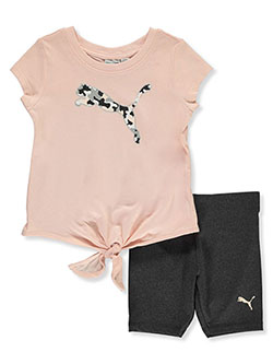 Baby Girls' 2-Piece Bike Shorts Set Outfit by Puma in Pink - $21.00