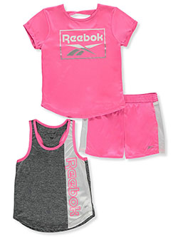 Girls' 3-Piece Mix-and-Match Set Outfit by Reebok in Sugar plum