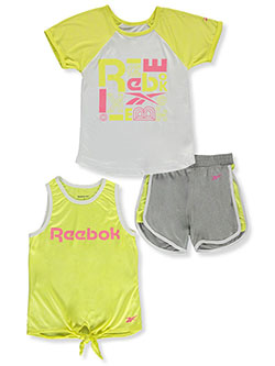 Girls' 3-Piece Mix-and-Match Set Outfit by Reebok in Lemon