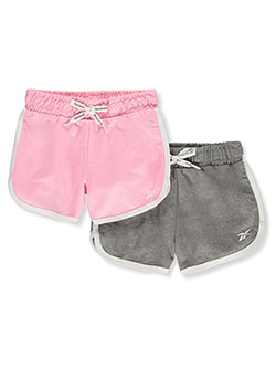 Girls' 2-Pack Dolphin Hem Shorts by Reebok in Pink