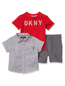Boys' Printed 3-Piece Shorts Set Outfit by DKNY in Castle rock