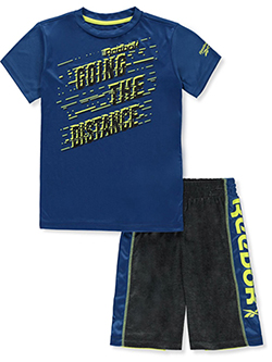 Boys' 2-Piece Shorts Set Outfit by Reebok in Royal blue