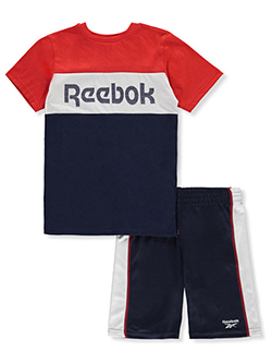 Boys' 2-Piece Shorts Set Outfit by Reebok in Navy