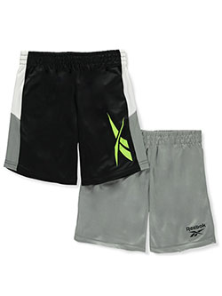 Boys' Color Block2-Pack Performance Shorts by Reebok in Black multi