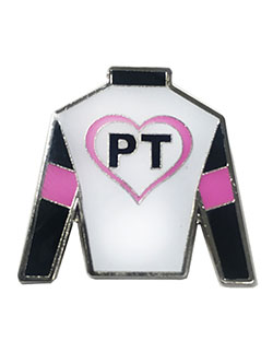 Parkland Thoroughbreds Enamel Pin by Parkland Thoroubreds in White/pink
