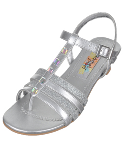 "Rachel Girls' ""Iridescent Studded"" Pump Sandals (Youth Sizes 12 – 4) - CookiesKids.com"