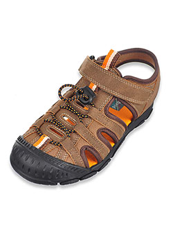 Boys' Lucas Sport Sandals by Scott David in brown, navy and tan - Sandals