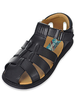 Boys' Sailor Sandals by Scott David in black, brown and navy, Shoes