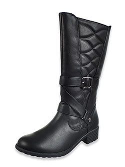 Girls' Kingsley Calf Boots by Rachel in black and cognac