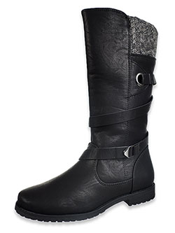 Girls' Denver Calf Boots by Rachel in Black