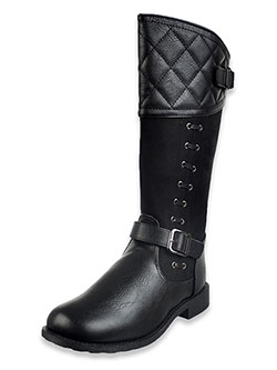 Girls' Lauralyn Calf Boots by Rachel in black and brown