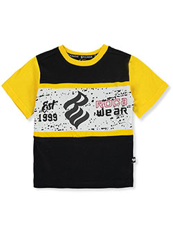 Boys' Logo Panel T-Shirt by Rocawear in Black