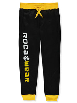 Boys' Contrast Trim Joggers by Rocawear in black/red, black/yellow, heather gray and white - Sweatpants