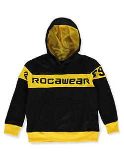 Boys' Contrast Trim Hoodie by Rocawear in black/red, black/yellow, heather gray, red and white