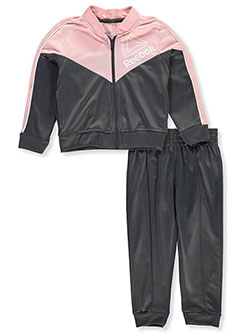 Reebok Baby Girls Girl Colorblock Tracksuit Set sizes 12 18 months