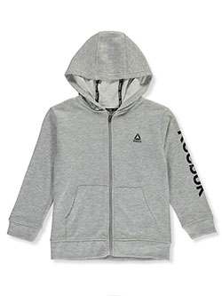 Boys' Full Zip French Terry Hoodie by Reebok in White heather gray