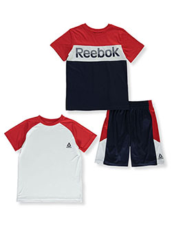 Boys' Color Block 3-Piece Shorts Set Outfit by Reebok in Navy