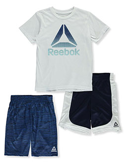 Boys' 3-Piece Shorts Set Outfit by Reebok in White