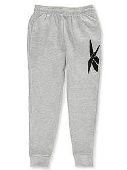 Boys' Chenille Logo Joggers by Reebok in Light gray