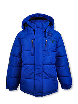 Boys' Classic Logo Insulated Hooded Parka by Reebok in Blue
