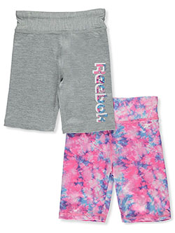 Girls' 2-Pack Bike Shorts Outfit by Reebok in Gray