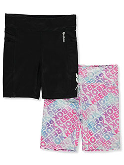 Girls' 2-Pack Bike Shorts Outfit by Reebok in Black
