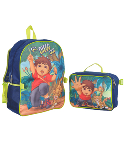 "Go, Diego, Go! ""Hi-Five"" Backpack with Lunchbox - CookiesKids.com"