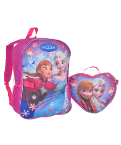 "Disney Frozen ""Raining Snowflakes"" Backpack with Lunchbox - CookiesKids.com"