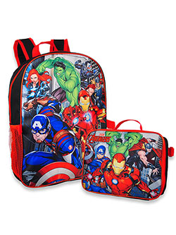 Marvel Avengers Backpack with Lunchbox by Avengers in Black/red