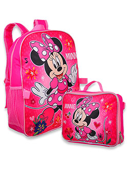 Minnie Mouse Backpack with Lunchbox by Disney in Pink