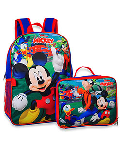 Mickey Mouse Backpack with Lunchbox by Disney in Blue/multi