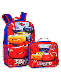 Cars Backpack with Lunchbox by Disney in Red/multi