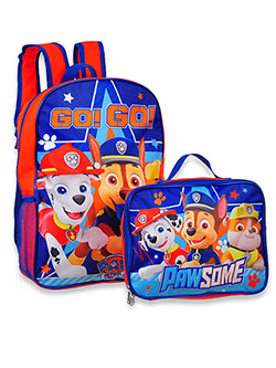 Backpack with Lunchbox by Paw Patrol in Blue/multi