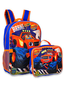 Backpack with Lunchbox by Blaze and the Monster Machines in Blue/multi