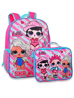 Backpack with Lunchbox by LOL Surprise in Pink/multi