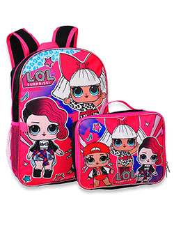 Backpack with Lunchbox by LOL Surprise in Black multi