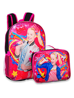 Backpack with Lunchbox by Jojo Siwa in Black/pink
