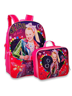 Backpack with Lunchbox by Jojo Siwa in Pink multi