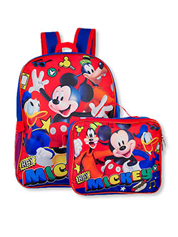 Mickey Mouse Backpack & Lunchbox Set by Disney in Multi