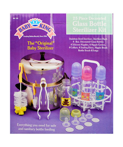 Baby King 25-Piece Glass Bottle Sterilizer Kit - CookiesKids.com